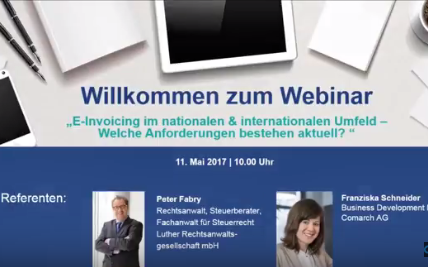 Webcast E-Invoicing national international